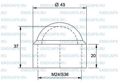 Колпачок на болт гайку M24