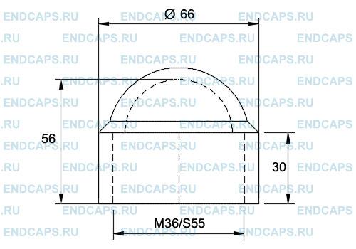 Колпачок на болт гайку M36