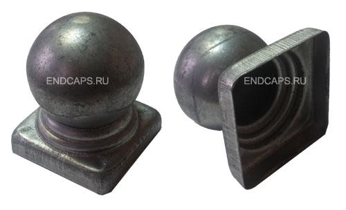 Заглушка с шаром 50x50 металлическая