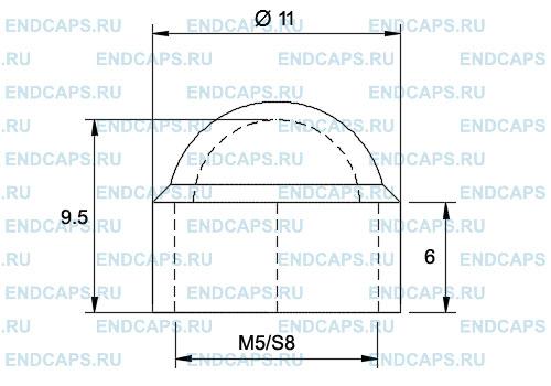 Колпачок на болт или гайку М5